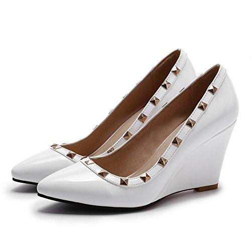 calzature on Rilevare Chiusa Allhqfashion Pull Assortiti Punta Pompe Bianco Colori tacchi Femminile Pu HwdqTTP
