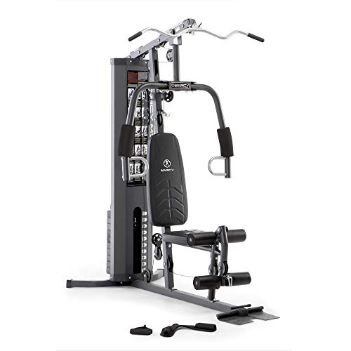 Marcy150lb. Stack Home Gym with Pulley, Arm, and Leg Developer Multifunctional Workout Station for Home Gym Weightlifting and Body Building MWM-4965