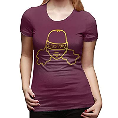 Alessia Cara Woman Ideal Short Sleeve T-Shirt Burgundy