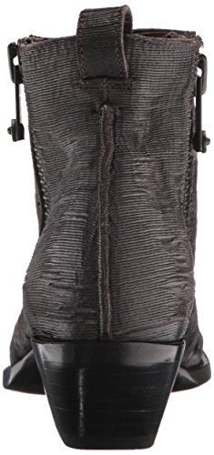 FRYE womens Vintage Leather Moto Sacha Cut Shortie Charcoal T1rTq7