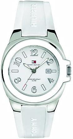 Tommy Hilfiger Riverside 1780916 - Reloj de Mujer de Cuarzo, Correa de Caucho Color Blanco