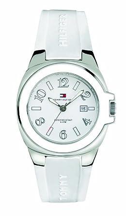 Tommy Hilfiger Riverside 1780916 - Reloj de Mujer de Cuarzo, Correa de Caucho Color Blanco: Tommy Hilfiger: Amazon.es: Relojes