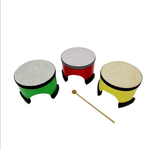 EoamIk Instrumentos de bebé 25 Centimetri Imitazione Pelle di Pecora Bambini Giocattoli educativi percussione Tamburo a Mano tamburello Giocattolo Strumento Musicale (Colore Casuale)