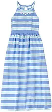 Gymboree Big Girls' Blue Green Stripe Maxi Dress