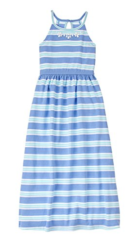 Gymboree Girls Big Blue Green Stripe Maxi Dress