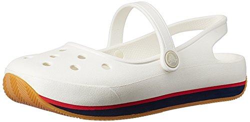 Crocs Donna Retro Mary Jane Slip On Scarpe Bianco / Blu Marino