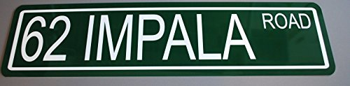 Motown Automotive Design METAL STREET SIGN 1962 62 IMPALA ROAD 6 x 24
