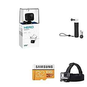 GoPro Session w/ GoPro Handler, Samsung 32GB SD Card, AmazonBasics Headstrap