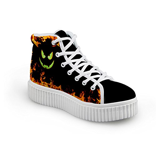 Bigcardesigns Donna Halloween Design Scarpe Basse Casual Hight Top Sneakers Style 1
