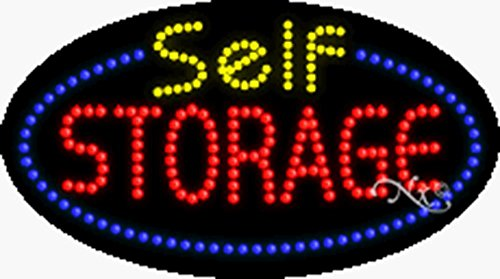 15x27x1 inches Self Storage Animated Flashing LED Window Sign by Light Master