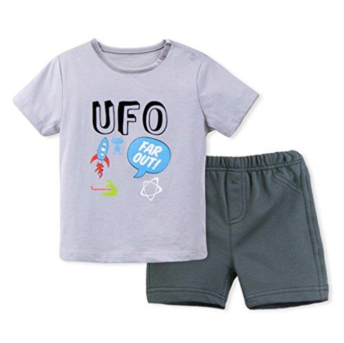 3 Bébé Style shirt Ensemble Garçon Fille Deux Acvip Short Unisexe Et Mignon T Motif Pièces 6pqn1B