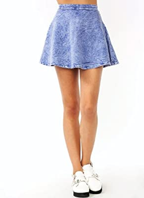 Milky Way Women's Acid Wash Skater Skirt