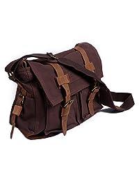 HDE Vintage Canvas Military Tactical Ammo Style Shoulder Messenger Field Bag