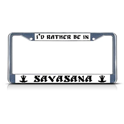 I/'D Rather Be Weight Lifting License Plate Frame Tag Holder