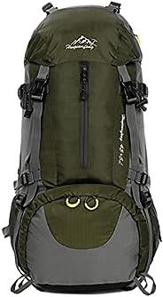Tomshin 50L à prova d'água para esportes ao ar livre, caminhada, trekking, acampamento, mochila, viagem, m