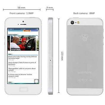 4 Goophone pulgadas P5 Android 4.2 teléfono elegante 3G MTK6577 ...