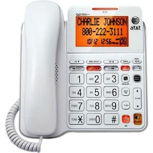 ATT-Vtech 89-4067-00 Corded Answering System with Backlit Display C494044; White