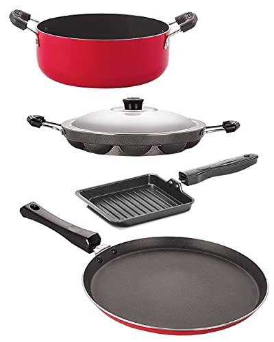 Nirlon-Kitchen-Utensils-Premium-Quality-Non-Stick-Cookware-Set-of-4-Pieces-FT11AP12SGPCS24