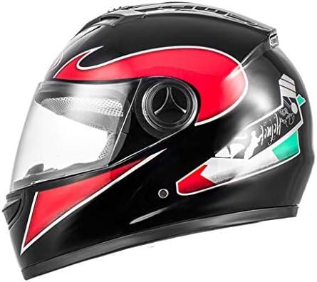 NJ ヘルメット- オートバイ電動ヘルメット男性と女性のHD防曇フルカバーヘルメット (色 : Bright black applique, サイズ さいず : 32x26cm)