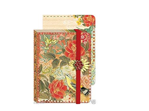 Punch Studio Everyday Brooch Pocket Journals - Red Blossom S