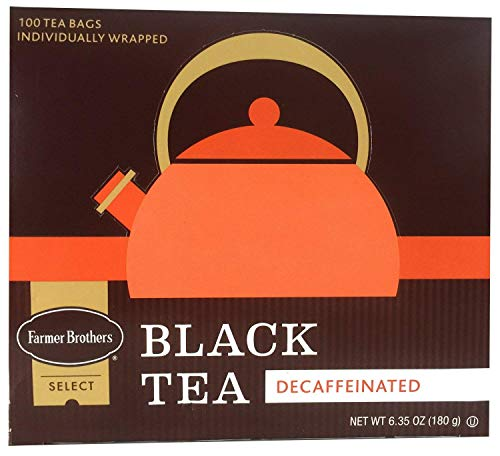 - Farmer Brothers Decaf Tea Bags, Black Tea, 100 count
