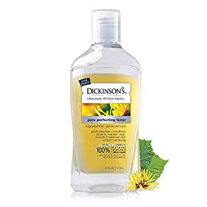 Dickinson's Original Witch Hazel Pore Perfecting Toner, 100% Natural, 16 Ounce Fragrance free