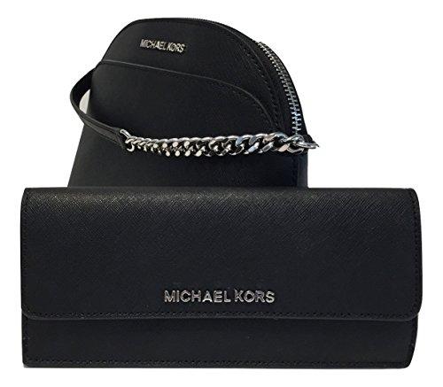 d177da6fee47 MICHAEL Michael Kors Emmy MD Crossbody bundle with Michael Kors Jet Set  Travel Flat Wallet (