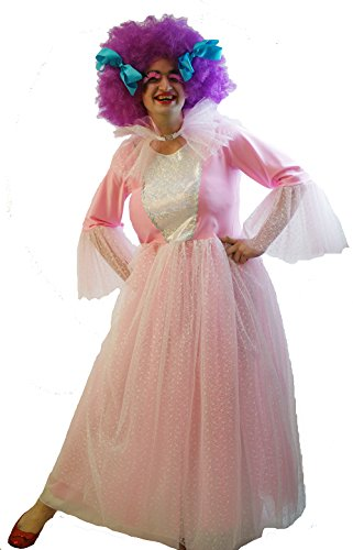 Panto-Shows-Snow Queen-Ice Princess-Cinderella MALE PINK FAIRY GODMOTHER & WIG Men's Costume (XXL)