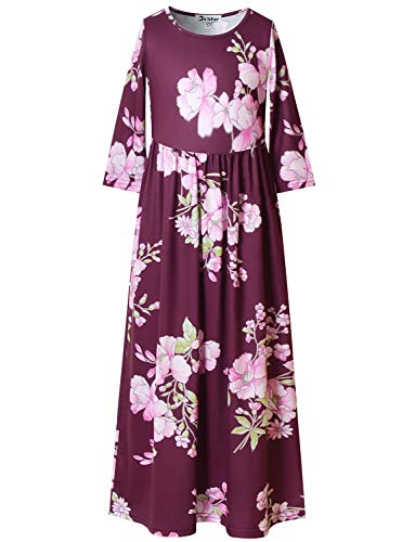 Top elbow sleeve long dress for 2019