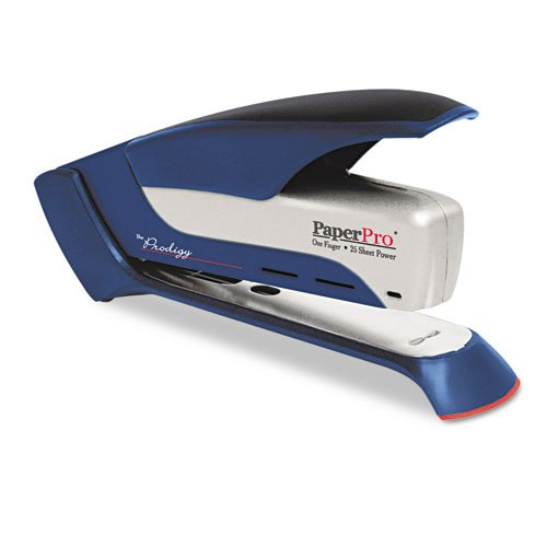 PaperPro : Prodigy Spring Powered Stapler, 25 Sheet Cap, Blue/Silver -:- Sold as 2 Packs of - 1 - / - Total of 2 Each