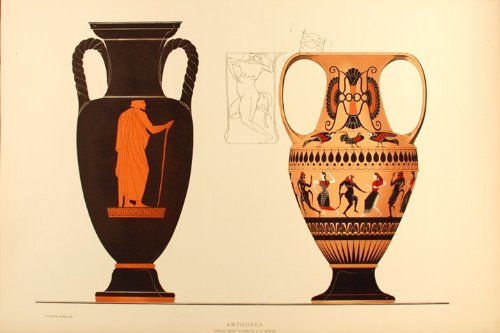 Amazon Greek Vase Albert Genick Fine Art