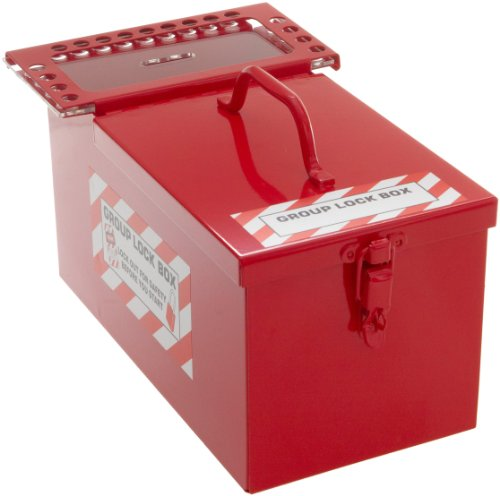 Brady Padlock Storage and Group Lock Box for Lockout/Tagout, Small, 12-1/2'' Length, 7-1/2'' Width, 6'' Depth by Brady