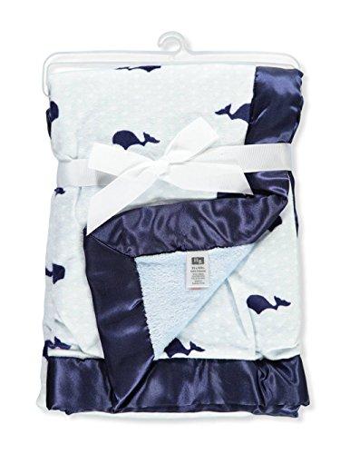 Hudson Baby Plush Blanket with Satin Trim