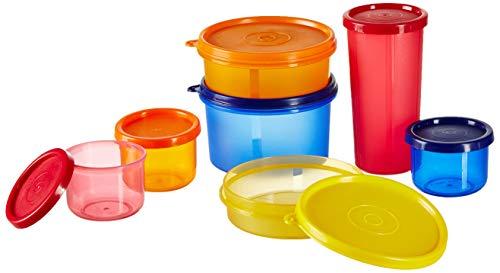 Amazon Brand - Solimo Food Saver Combo - Set of 7 Plastic Lunch Box & Left Over Multi Purpose Containers (535ml x 1… 2 41BAjv4%2Bj0L