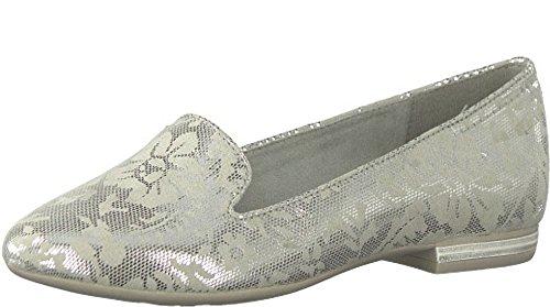 Styles 24235 silver Tozzi Marco Floral Imprimé Pompes Métallique de D'Aladdin D'Appoint p54wXwvq