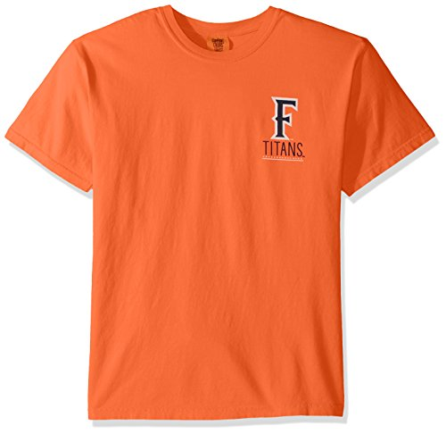 NCAA Cal State Fullerton Titans Adult Unisex NCAA Life is Better Comfort Color Short sleeve T-Shirt,XL,Melon