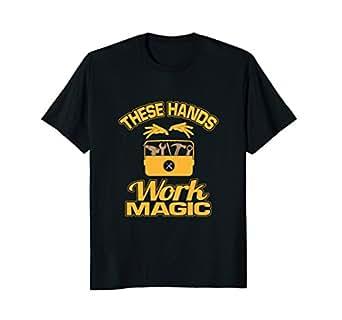 Mens These Hands Work Magic T-Shirt 2XL Black