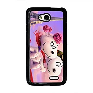 LG L70 the peanuts movie phone case 106 Snoopy and Charlie Brown phone case dust-proof skin for LG L70