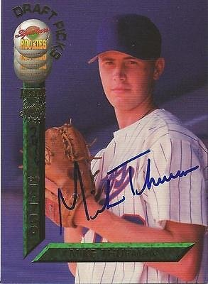 (Mike Thurman 1994 Signature Rookies Certified Autograph Card RC #29 Expos /7750)