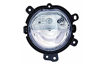 Mini Cooper Hardtop Sedan 15with o Fog Lamp Halogen Head Lamp Type Passenger Side Depo 882-1606R3AQ Daytime Running Light Assembly