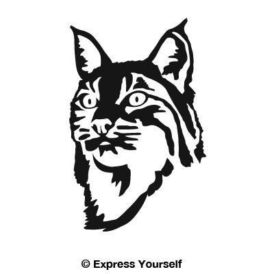 Amazon Com Express Yourself Products Bobcat Face Black