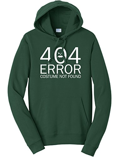 Dancing Participle Unisex 404 Error Costume Not Found Sweatshirt Hoodie, X-Large, Forest Green - 404 Error Costume Not Found Image