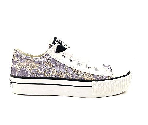 Sneaker / Scarpe Britanniche Cavaliere Bianco Argento Taglia Eu 37 / Uk 4