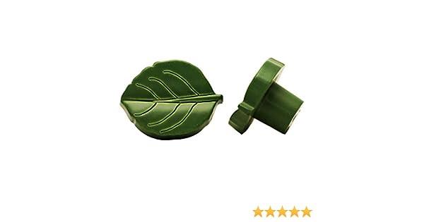 dise/ño hoja verde Pomo para muebles di/ámetro: 35 mm