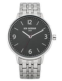 Ben Sherman Men's WB023BMA Portabello Casual Analog Display Quartz Silver Watch
