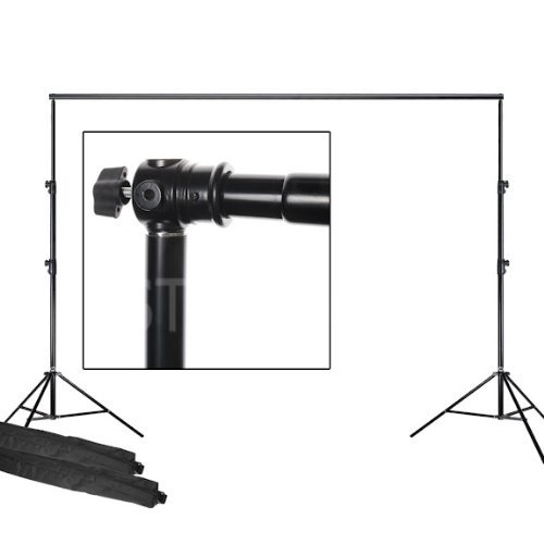 SouthbayCamera Telescopic Backdrop Background Support Stand 2 Piece 7 Feet Stands and 6 Feet Cross Bar FT9116