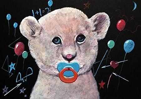 Nordic cartoon bear carteles e impresiones baby bear moderno lienzo arte pintura de la pared sala de niños decoración de la pared decoración sin marco cuadros A74 50x70cm
