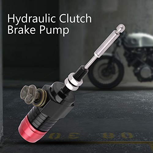 Duokon 14mm Motorcycle Clutch Cylinder,Universal Hydraulic Clutch Master Cylinder Rod Brake Pump (Red):