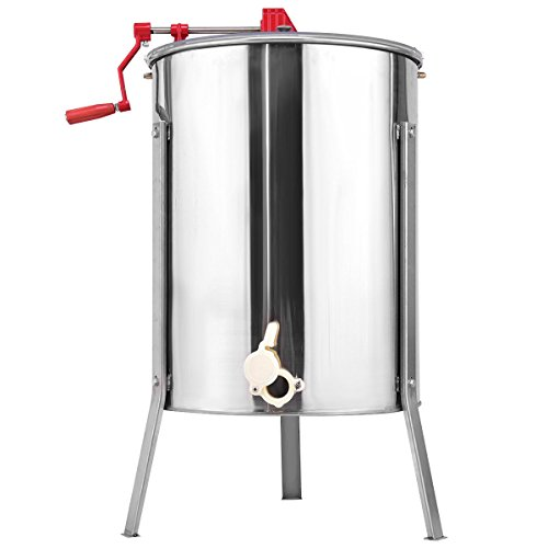 Goplus Large 4/8 Frame Honey Extractor Honey Separator Stainless Steel Manual Crank Pro Extraction Equipment Manual Beekeeping Equipment with Stand