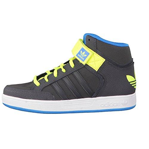 adidas Varial Mid J - Zapatillas Para Niño Gris / Lima / Azul